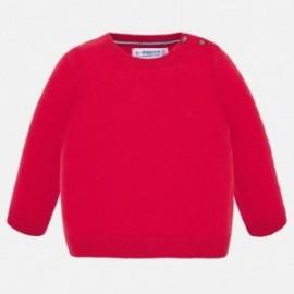 Sweter bawełniany chłopięcy Mayoral 303-37 Czerwony
