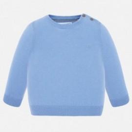 Sweter bawełniany chłopięcy Mayoral 303-34 Niebieski