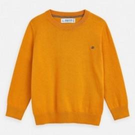Sweter z lamówką chłopięcy Mayoral 311-78 Żółty