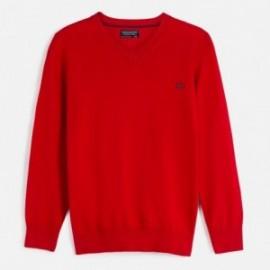 Sweter bawełniany chłopięcy Mayoral 356-80 Czerwony