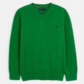 Sweter bawełniany chłopięcy Mayoral 356-78 Zielony