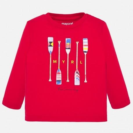 Koszulka z długim rękawem chłopięca Mayoral 1055-75 Czerwony