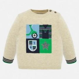 Sweter z haftem chłopięcy Mayoral 1321-47 Beżowy