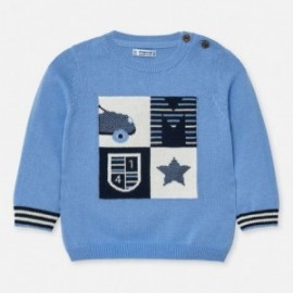 Sweter z haftem chłopięcy Mayoral 1321-49 Niebieski