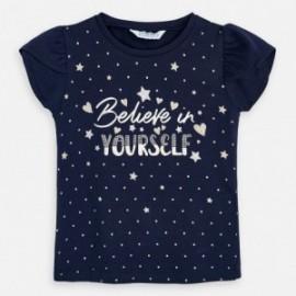 Koszulka bawełniana dla dziewczynki Mayoral 3009-39 Granatowy