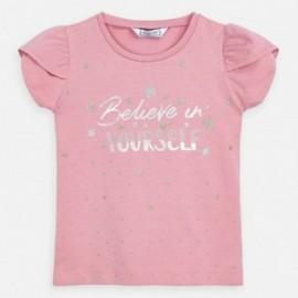 Koszulka bawełniana dla dziewczynki Mayoral 3009-38 Różowy