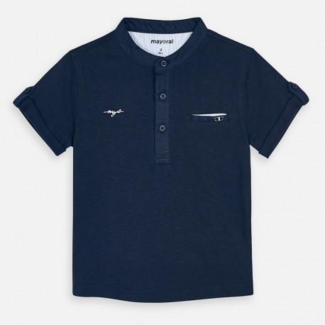 Koszulka na stójce chłopięca Mayoral 3059-84 granat