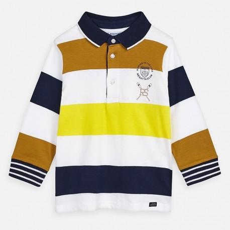 Koszulka polo w paski chłopiec Mayoral 3159-44 Żółty