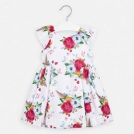 Sukienka w kwiaty dziewczęca Mayoral 3913-65 Kolorowy
