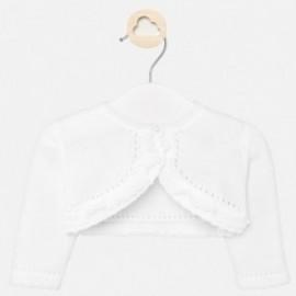 Sweterek elegancki dla dziewczynki Mayoral 1317-59 biały