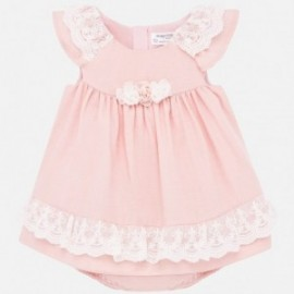 Sukienka elegancka dla dziewczynki Mayoral 1876-73 Brzoskwiniowy