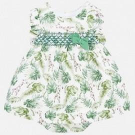 Sukienka lniana dla dziewczynki Mayoral 1879-41 Zielony