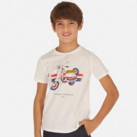 Koszulka z krótkim rękawem chłopięca Mayoral 6053-91 Biały