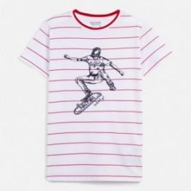 Koszulka w paski chłopięca Mayoral 6057-90 Czerwony