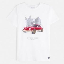 Koszulka z krótkim rękawem chłopięca Mayoral 6060-27 Biały