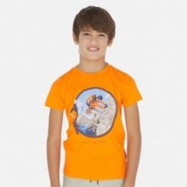Koszulka z krótkim rękawem chłopięca Mayoral 6065-10 Pomarańczowy
