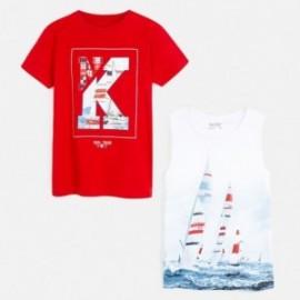 Komplet 2 koszulki dla chłopca Mayoral 6072-74 Czerwony