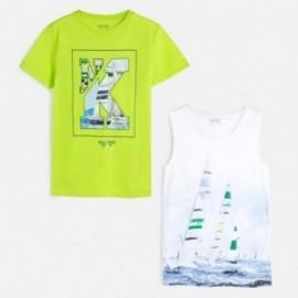 Komplet 2 koszulki dla chłopca Mayoral 6072-73 Zielony neon
