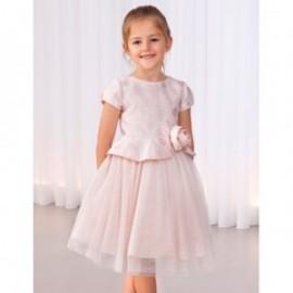 Sukienka żakardowa dla dziewczynek Abel & Lula 5009-2 różowa