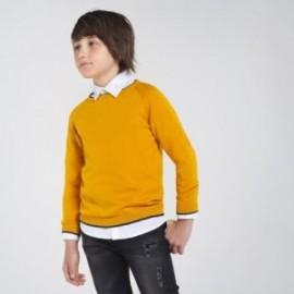 Sweter z lamówką chłopięcy Mayoral 350-39 Żółty