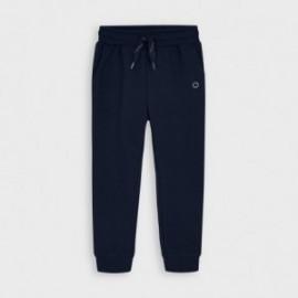 Długie spodnie dresowe chłopięce Mayoral 725-85 Granatowy