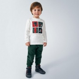Długie spodnie dresowe chłopięce Mayoral 725-78 Zielony