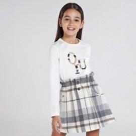 Koszulka z długim rękawem dziewczęca Mayoral 830-65 Kremowy