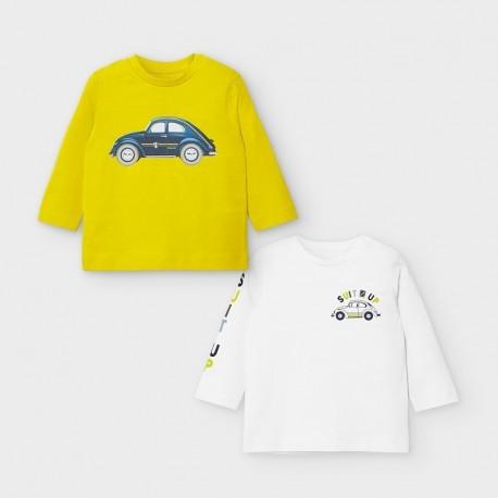 Komplet 2 koszulki dla chłopca Mayoral 2037-89 Żółty