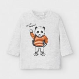Koszulka z długim rękawem chłopięca Mayoral 2041-87 Szary