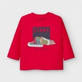 Koszulka z długim rękawem chłopięca Mayoral 2045-16 czerwona