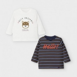 Komplet 2 koszulki dla chłopców Mayoral 2048-30 Śmietanka