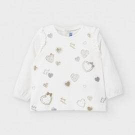 Koszulka z długim rękawem dla dziewczynki Mayoral 2056-20 krem