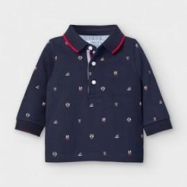 Koszulka polo dla chłopczyka Mayoral 2124-10 granat