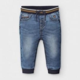 Spodnie jogger soft denim chłopięce Mayoral 2585-95 niebieskie
