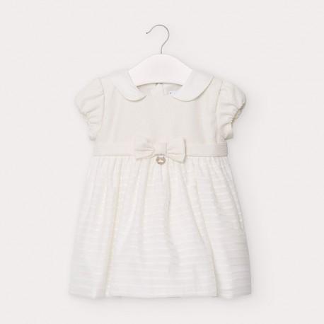 Sukienka elegancka z kokardą dziewczyęca Mayoral 2947-78 krem
