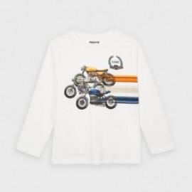 Koszulka z długim rękawem dla chłopca Mayoral 4038-80 Śmietanka