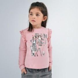 Koszulka z długim rękawem dla dziewczynki Mayoral 4062-79 różowa