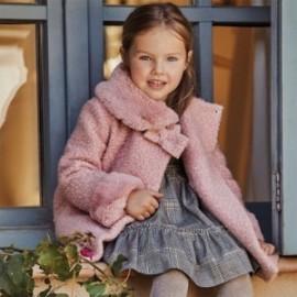 Płaszcz z sukna dla dziewczynki Mayoral 4411-50 Różowy