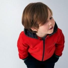 Bluza z kapturem dla chłopca Mayoral 4486-27 czerwona