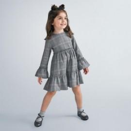 Sukienka w kratę dla dziewczynek Mayoral 4983-25 Szara