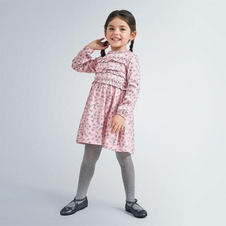 Sukienka w kokardki dla dziewczynek Mayoral 4984-83 Różowa