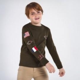 Koszulka z długim rękawem chłopięca Mayoral 7048-85 oliwka
