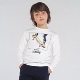 Koszulka z długim rękawem chłopięca Mayoral 7053-24 Śmietanka