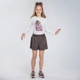 Koszulka z długim rękawkiem dziewczęca Mayoral 7070-79 krem