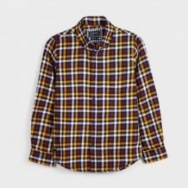 Koszula flanelowa w kratę chłopęca Mayoral 7131-89 bordo