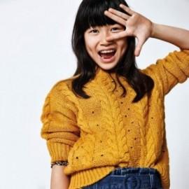 Sweter dla dziewczynki Mayoral 7325-11 Żółty