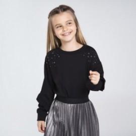 Bluza z dżetami dziewczęca Mayoral 7402-53 Czarny