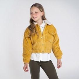 Kurtka sztruksowa dla dziewczyny Mayoral 7407-40 Żółty