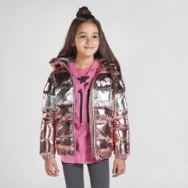 Kurtka metaliczna dziewczęca Mayoral 7418-57 Różowy