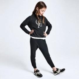 Spodnie dresowe dziewczęce Mayoral 7541-76 Szary